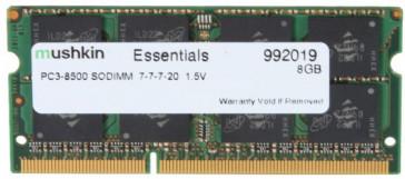 Mushkin SO-DIMM 8GB DDR3-1066 Essentials-Serie