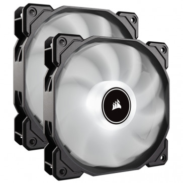 Corsair AF140 LED, 2er Pack – white [CO-9050088-WW]