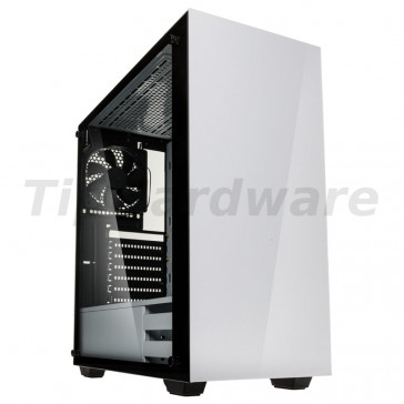 Kolink Stronghold Midi Tower Gaming Case - White Tempered Glass Side Window [STRONGHOLD WHITE]