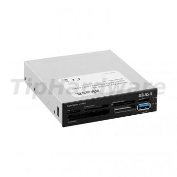 "Akasa AK-ICR-14 USB 3.0 6-Port Card Reader 3,5"" - black/white"