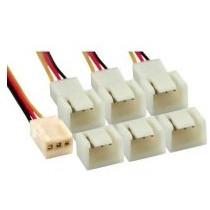 Inline FAN Adapter kabel 3-Pin na 6x 3-Pin