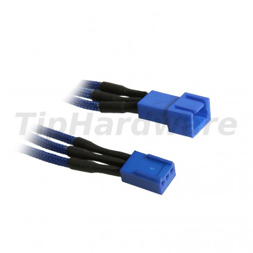 BitFenix 3-Pin Extension Cable 90cm - sleeved blue/blue