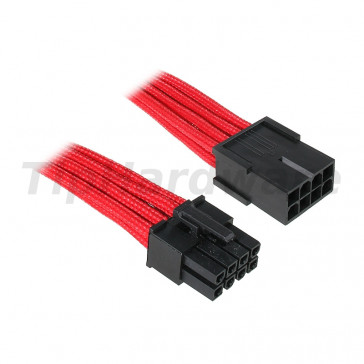 BitFenix 8-Pin EPS12V Extension Cable 45cm - sleeved red/black