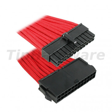 BitFenix 24-Pin ATX Extension Cable 30cm - sleeved red/black