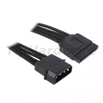 BitFenix Molex na SATA Adapter 45 cm - sleeved black/black