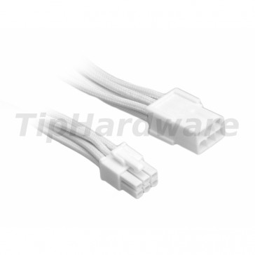 BitFenix 6-Pin PCIe Extension Cable 45cm - sleeved white/white