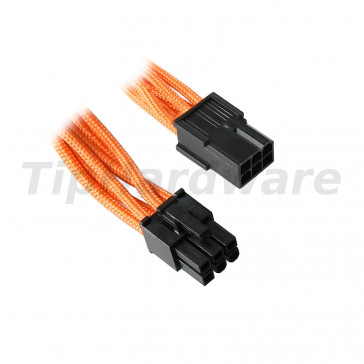 BitFenix 6-Pin PCIe Extension Cable 45cm - sleeved orange/black