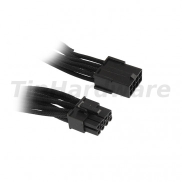 BitFenix 8-Pin PCIe Extension Cable 45cm - sleeved black/black