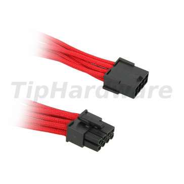 BitFenix 8-Pin PCIe Extension Cable 45cm - sleeved red/black