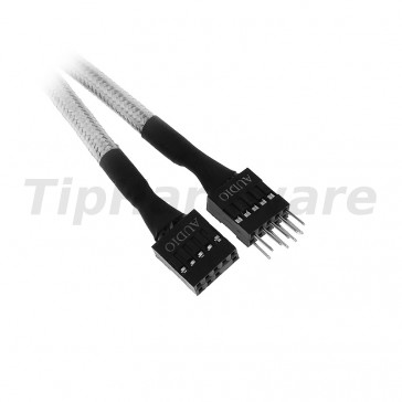 BitFenix internal Audio Extension Cable 30cm - sleeved white/black