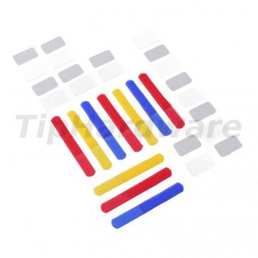 LABEL THE CABLE Mini suchý zip 10ks Set - color mix