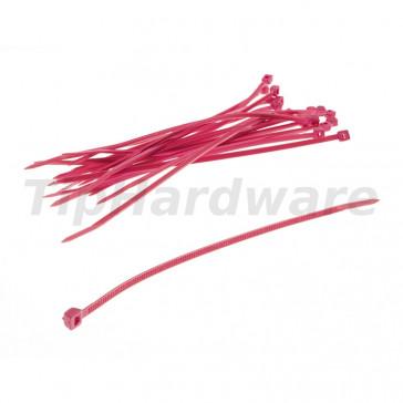 Bitspower Cable strap Set 20 ks 120mm - UV red