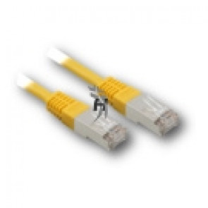 Patch kabel RJ45 Cat.5e FTP 0,25m 25cm žlutý