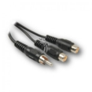 Kabel Y Cinch 1x konektor - 2x zdířka