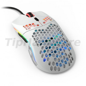 Glorious PC Gaming Race Model O- USB RGB Optical Gaming Mouse - Glossy White [GOM-GWHITE]