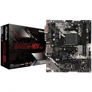 ASRock B450M-HDV R4.0, AMD B450 Mainboard - Socket AM4 [90-MXB9N0-A0UAYZ]