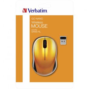 Verbatim Go Nano Wireless Mouse Volcanic Orange [49045]