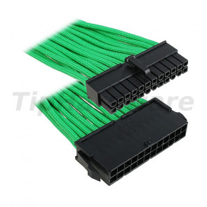BitFenix 24-Pin ATX Extension Cable 30cm - sleeved green/black